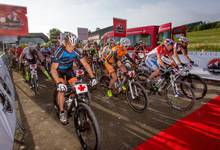 Am Start des Marathons im Rahmen des Bike-Festivals in Willingen